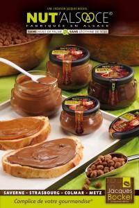 Pâte à tartiner Nut'Alsace - Affiche publicitaire & Packaging (Photo Marcel Ehrhard)