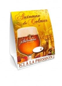 """Bière """"Automne de Colmar"""" - Chevalet de table"""
